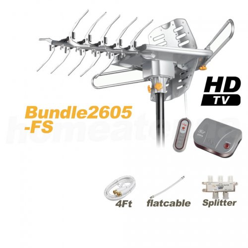HD-2605 Antenna + Flat Cable + Splitter Package-0