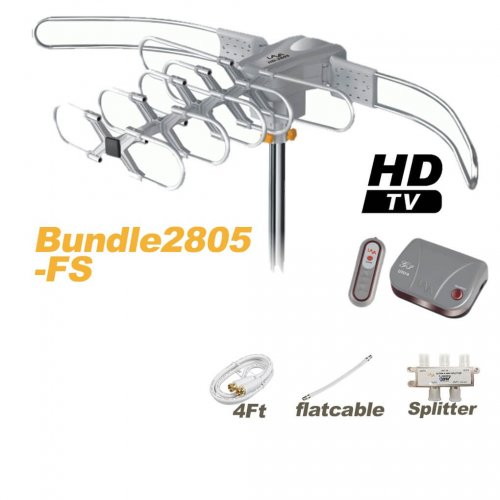 LAVA HD2805 HDTV Antenna + Flat Cable + Splitter Bundle Package-0