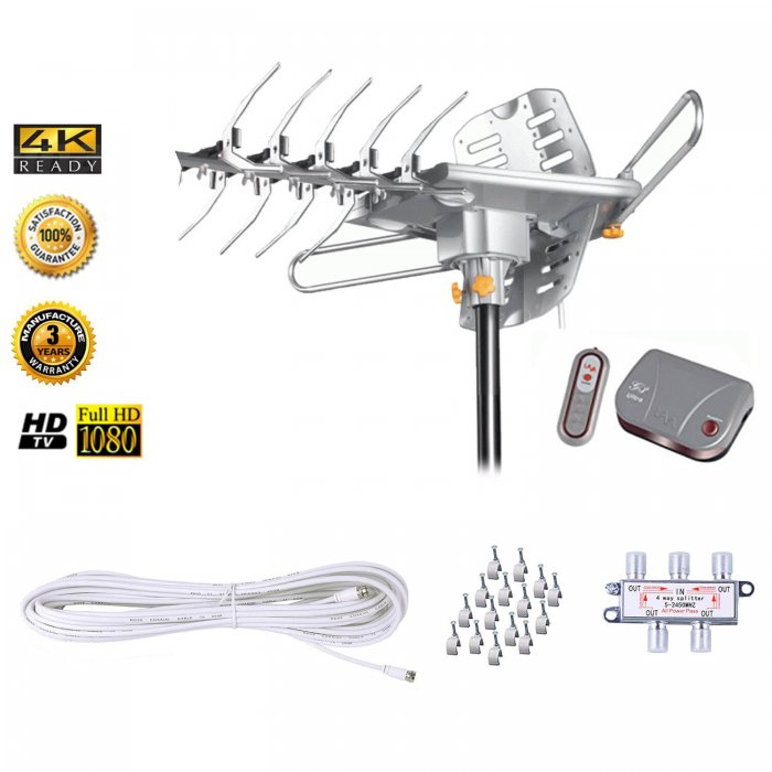 LAVA UHF/VHF Outdoor HDTV Antenna with Motor Rotor HD-2805