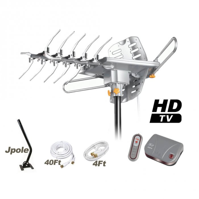 [Open Box] LAVA HD2805 Ultra Outdoor HDTV Antenna with G3 Control Box-192