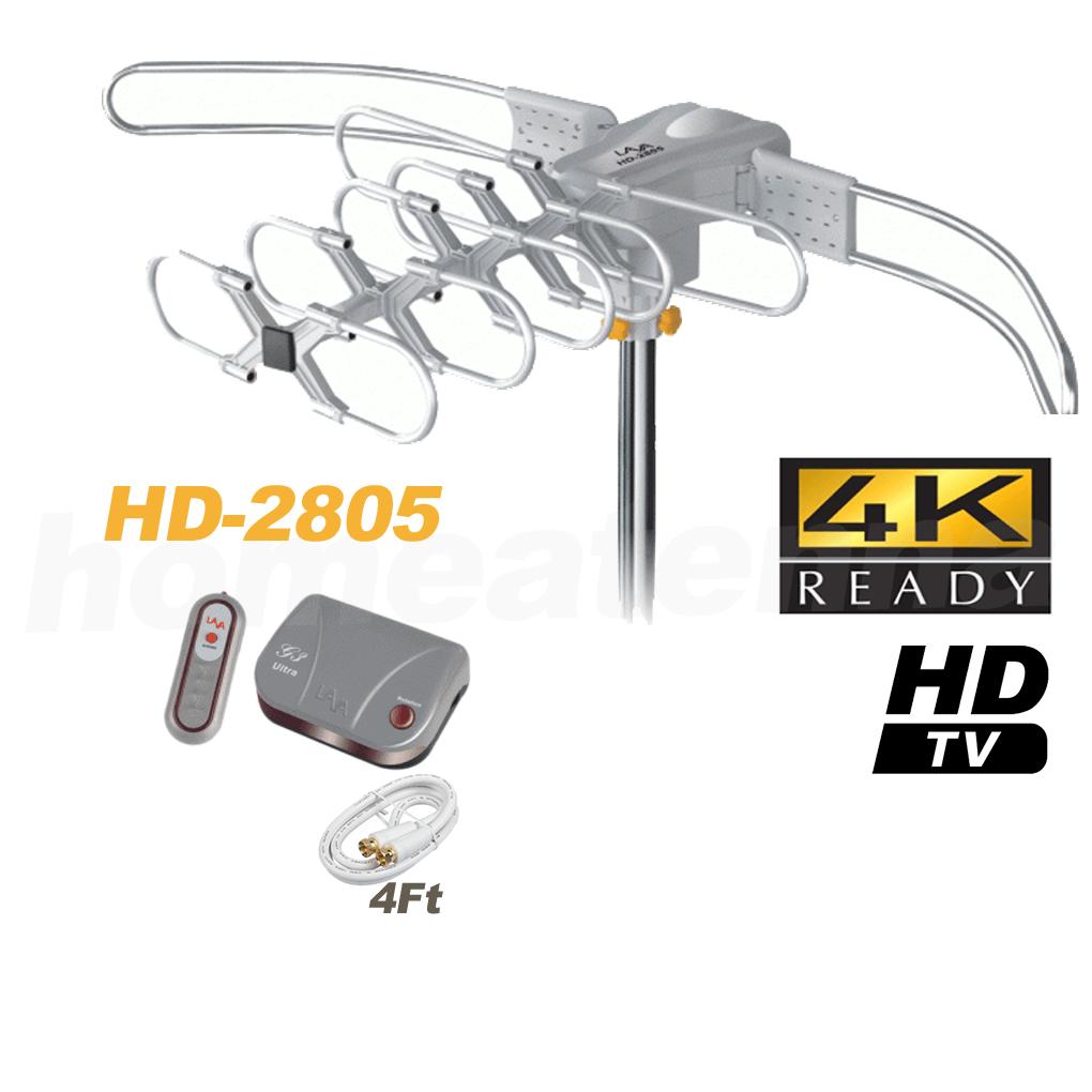 [Open Box] LAVA HD2805 Ultra Outdoor HDTV Antenna with G3 Control Box-0
