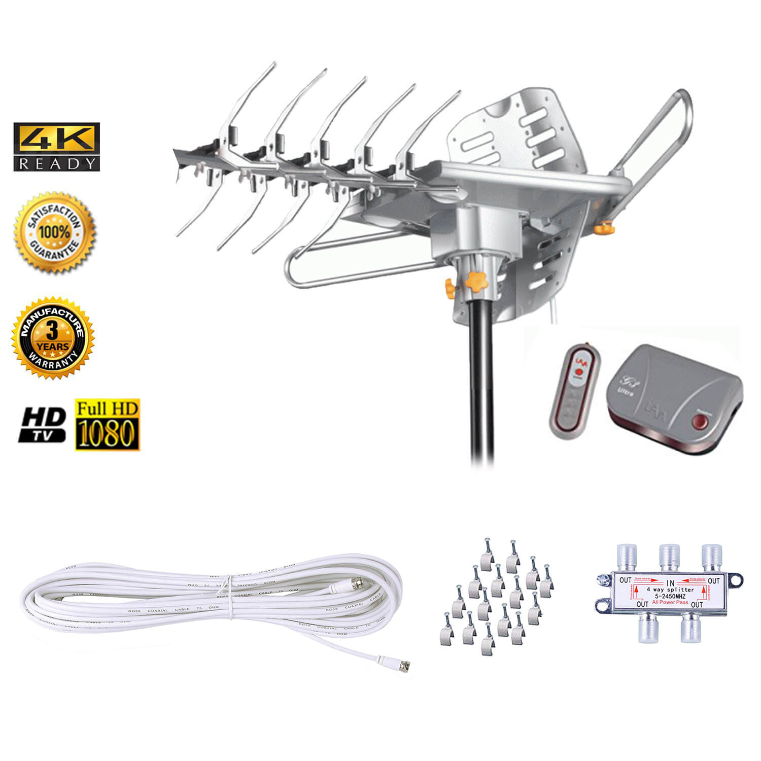 Lava Electronics HD-2605 UHF/VHF HDTV Antenna with Remote Control