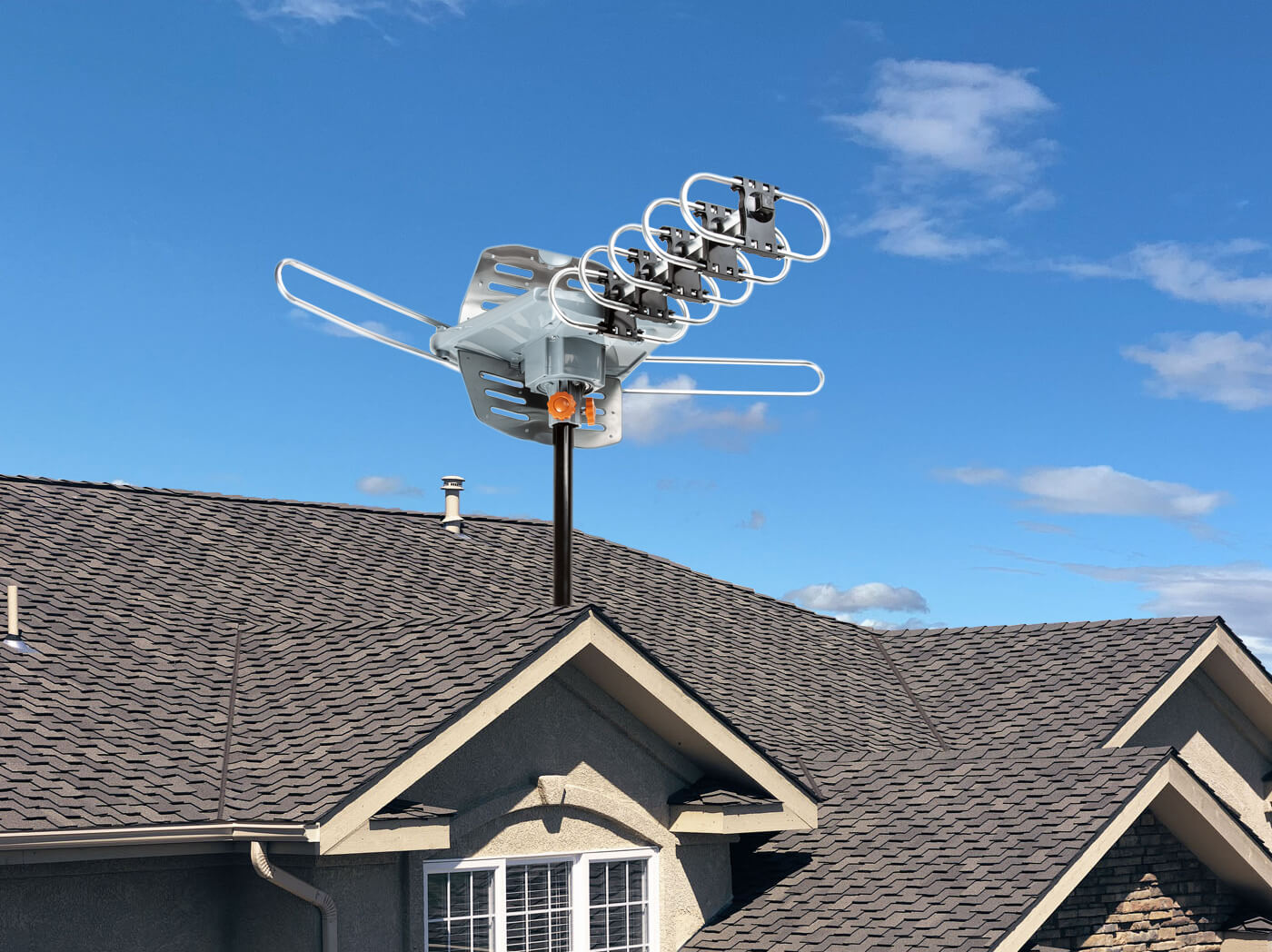 Outdoor antenna 5809 mounting onto the roof